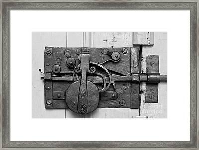 Iron Door Lock Framed Print by Heiko Koehrer-Wagner