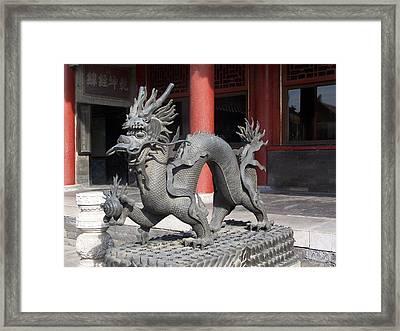 Iron Dragon Framed Print by Steve Huang