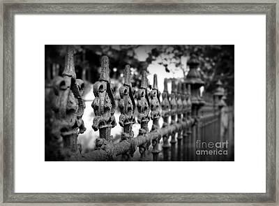 Iron Fence 2 Framed Print by Perry Webster
