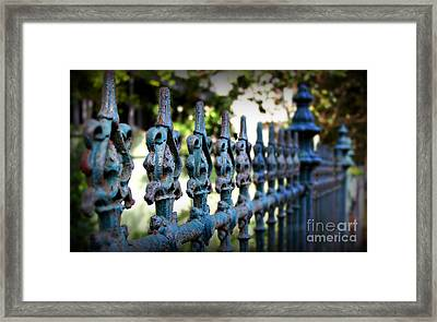 Iron Fence Framed Print by Perry Webster