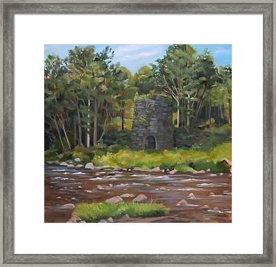Iron Furnace Of Franconia New Hampshire Framed Print