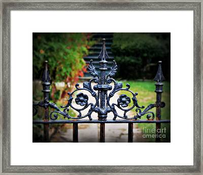 Iron Gate Framed Print by Perry Webster