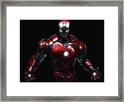 Iron Man Ipad Painting Framed Print by David Cheung