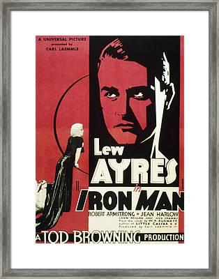 Iron Man, Jean Harlow, Lew Ayres, 1931 Framed Print by Everett