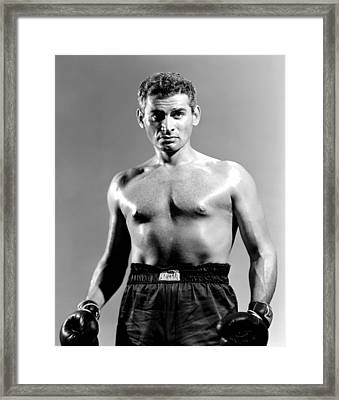 Iron Man, Jeff Chandler, 1951 Framed Print