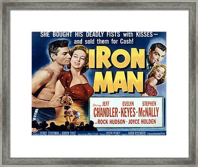 Iron Man, Jeff Chandler, Evelyn Keyes Framed Print