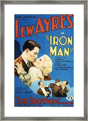 Iron Man, Lew Ayres, Jean Harlow, 1931 Framed Print by Everett