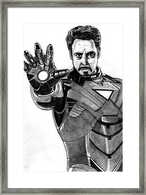 Iron Man Framed Print by Ralph Harlow