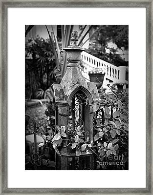 Iron Post Detail Framed Print by Perry Webster