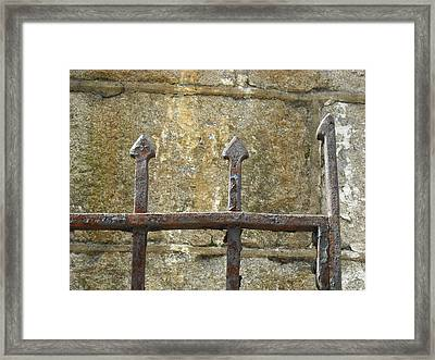 Framed Print featuring the photograph Iron Spikes by Christophe Ennis