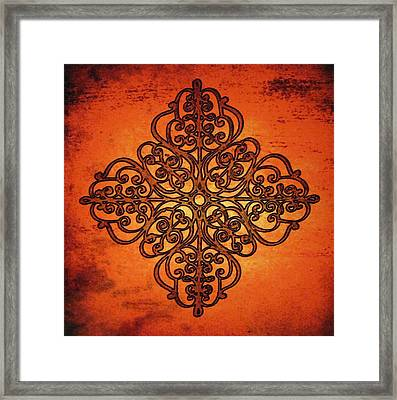 Iron Work Framed Print by Cindy Edwards