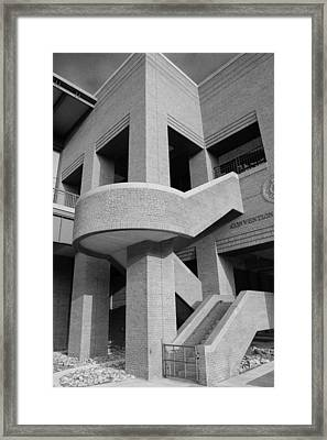 Iron Works Detail In Black And White Framed Print by Brian Parton