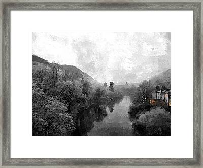 Ironbridge Winter Framed Print