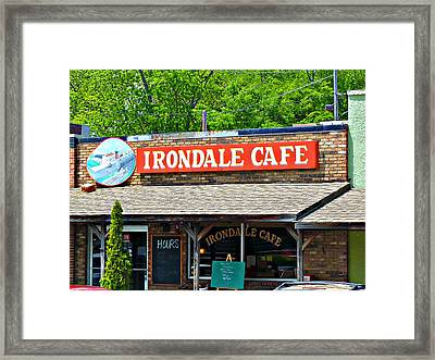 Irondale Cafe  Framed Print