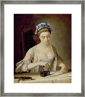 Ironing Framed Print by Henry Robert Morland