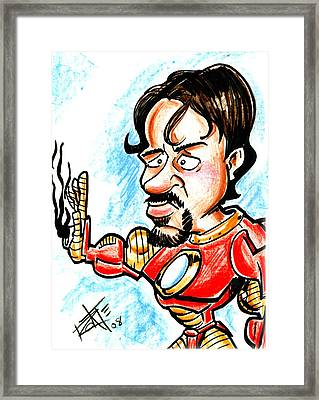 Ironman Framed Print by Big Mike Roate