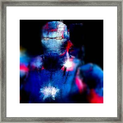 #ironman In #red #white #blue #patriot Framed Print