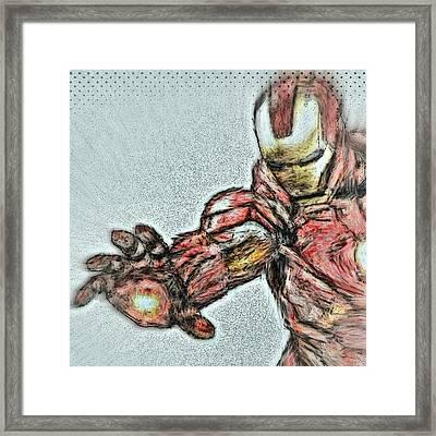 #ironman #monet #brush #stroke Framed Print