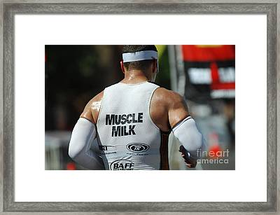 Ironman Muscle Milk Framed Print by Bob Christopher