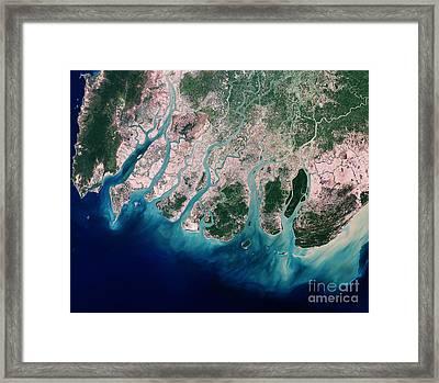 Irrawaddy River Delta Framed Print