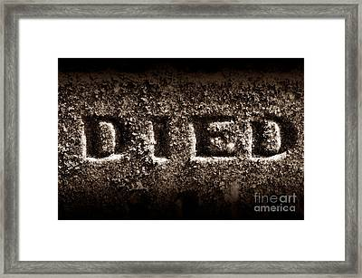 Irreversible Framed Print by Luke Moore