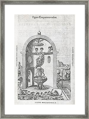 Irrigation System, 16th Century Artwork Framed Print by Middle Temple Library