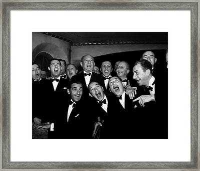 Irving Berling At Piano, Chico Marx Framed Print by Everett