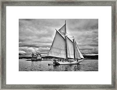 Isaac H. Evans Framed Print by Fred LeBlanc