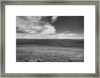 Isaac Over The Preserve Framed Print by Fred Lassmann