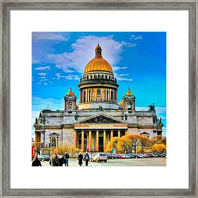 Isaak's Cathedral The Heaviest Framed Print by Tommy Tjahjono