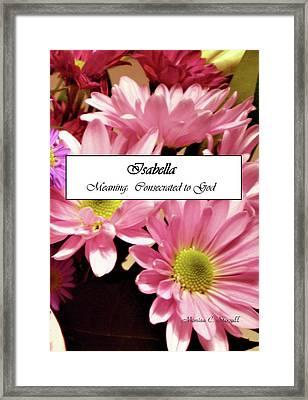 Isabella - Name Poster Framed Print