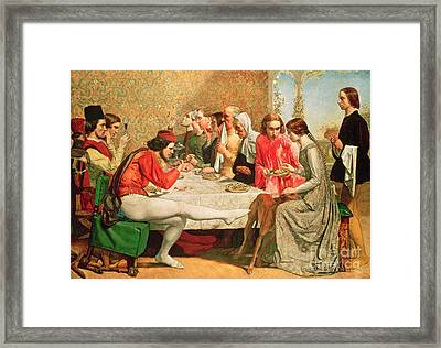 Isabella Framed Print by Sir John Everett Millais