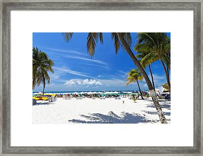 Isla Mujeres Beach Scenic Framed Print by George Oze
