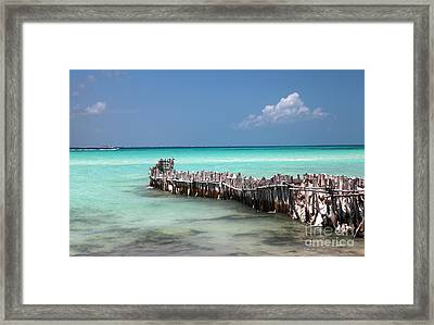 Framed Print featuring the photograph Isla Mujeres by Milena Boeva