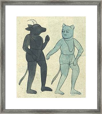 Islamic Demons, Jinns, 17th Century Framed Print