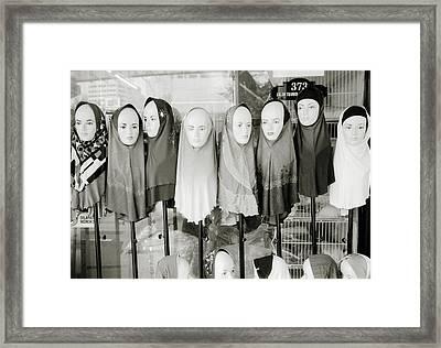 Islamic Mannequins Framed Print by Shaun Higson