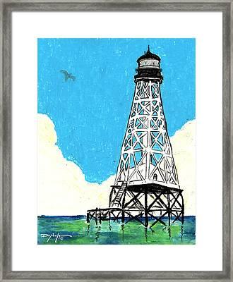 Islamorada Lighthouse Alligator Reef Framed Print by William Depaula