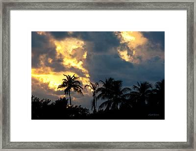Islamorada Sky Lights Framed Print by Michelle Wiarda
