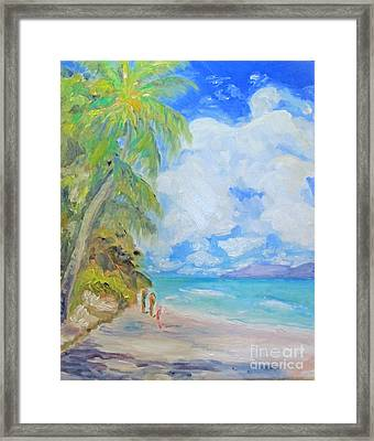 Island Beach Framed Print