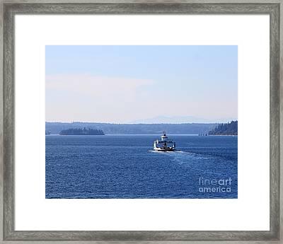 Island Ferry Framed Print by Billie-Jo Miller