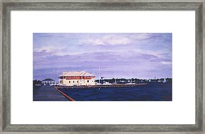 Island Heights Yacht Club Framed Print