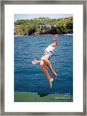 Framed Print featuring the photograph Island Hopping Boy by Vicki Ferrari