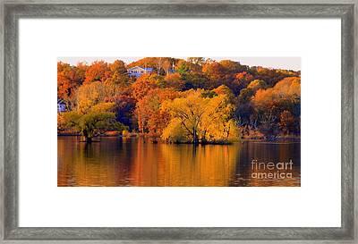 Island  In Fall Framed Print