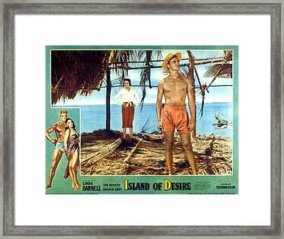 Island Of Desire, Linda Darnell, Tab Framed Print by Everett