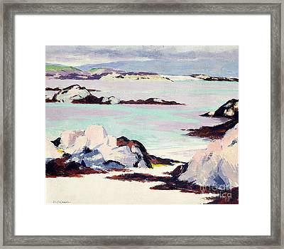 Island Of Iona Framed Print by Francis Campbell Boileau Cadell
