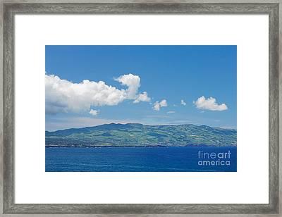 Island On The Horizon Framed Print by Gaspar Avila