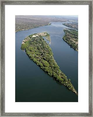 Island On The Zambezi River Framed Print by Tony Camacho