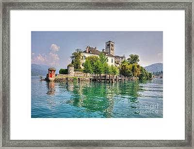 Island San Giulio Framed Print