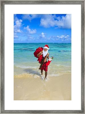 Island Santa Framed Print