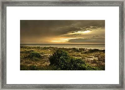 Island Storm Sunset Framed Print